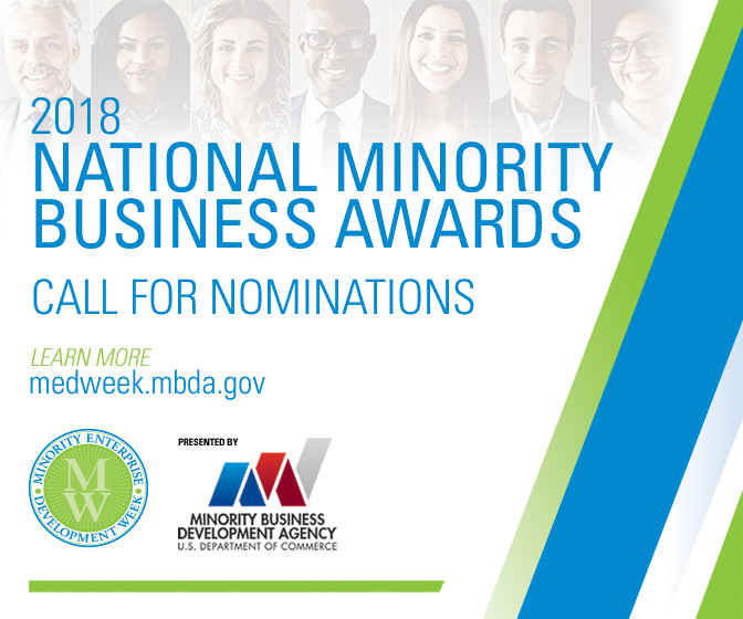 Minority Business Development Agency Seeks Nominations for 2018 National Minority Business Awards